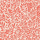 Seamless floral hand-drawn pattern, leaf background seamlessly tiling. Retro pattern with leaf. Organic ornament can be used as wa Royalty Free Stock Photography