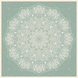 Seamless floral hand drawn pattern with mandala. Royalty Free Stock Photography