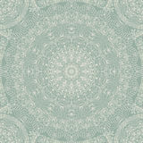 Seamless floral hand drawn pattern with mandala. Stock Photo