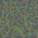 Seamless floral heart fabric green tone Stock Photography