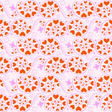 Seamless floral hearts pattern Royalty Free Stock Image