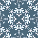 Seamless floral heraldry pattern Royalty Free Stock Photos