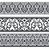 Seamless floral horizontal border set Royalty Free Stock Photography