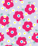 Seamless floral illustrations Stock Photo