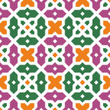 Seamless floral islamic ornament Royalty Free Stock Photography