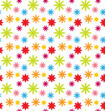 Seamless Floral Kid Texture with Colorful Flowers Stock Photos