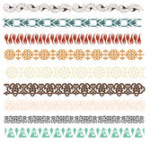 Seamless floral lace line Stock Images