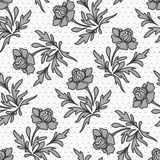 Seamless floral lace pattern Stock Photos