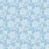 Seamless floral lace pattern vector illustration. Seamless floral lace pattern. Flowers on blue background vector illustration Stock Photography