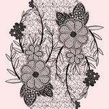 Seamless floral lace ribbon. Royalty Free Stock Image
