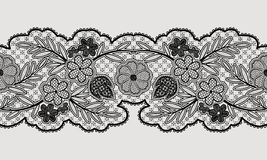 Seamless floral lace ribbon for your design. Stock Images