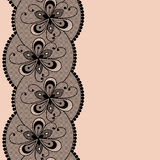 Seamless lacy border. Royalty Free Stock Photography