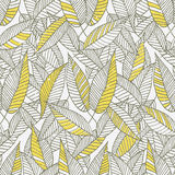 Seamless Floral Leaf Pattern Stock Photography