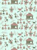 Seamless floral men pattern vector illustration