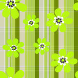Seamless floral modern pattern striped background Royalty Free Stock Photo