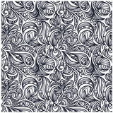 Seamless floral monochrome pattern Stock Image