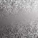 Seamless floral monochrome pattern Royalty Free Stock Photos