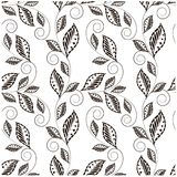 Seamless floral monochrome pattern Stock Images