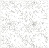 Seamless floral monochrome pattern Stock Photos