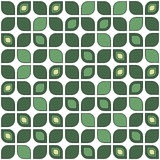 Seamless floral mosaic pattern with leaves isolated on white Stock Photography