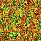 Seamless floral orange and yellow pattern Royalty Free Stock Photos