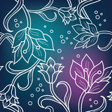 Seamless floral ornament Stock Images