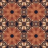 Seamless floral ornament, bark on fabric Royalty Free Stock Image