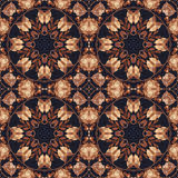 Seamless floral ornament, bark on fabric Royalty Free Stock Photos