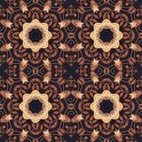 Seamless floral ornament, bark on fabric Stock Photos