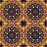 Seamless floral ornament, bark on fabric Royalty Free Stock Images