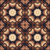 Seamless floral ornament, bark on fabric Stock Image