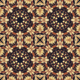 Seamless floral ornament, bark on fabric Stock Photo