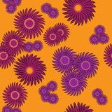 Seamless floral ornament pattern Royalty Free Stock Photos