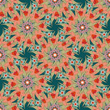 Seamless floral ornament pattern background Stock Image