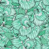 Seamless Floral Ornament Pattern Stock Photo