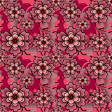 Seamless floral ornament pattern texture Stock Images