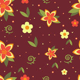 Seamless floral ornament Stock Image