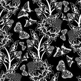 Seamless floral ornate Stock Image