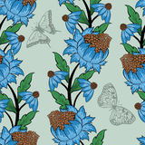 Seamless floral ornate  pattern Stock Photos