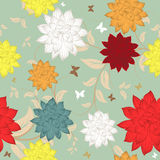Seamless floral ornate  pattern Royalty Free Stock Photography
