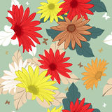Seamless floral ornate  pattern Stock Images