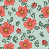 Seamless floral ornate  pattern Stock Photography