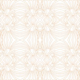 Seamless floral outlined mosaic pattern Stock Photos