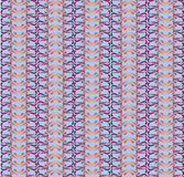 Seamless floral outlined mosaic pattern Royalty Free Stock Images