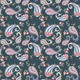 Seamless floral paisley pattern in vector. Vintage style vector illustration