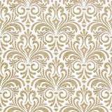 Seamless floral paper cut pattern Stock Photo