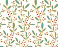 Decorative paper decor with berries Stock Images