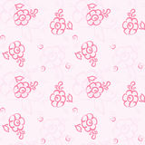 Seamless floral pastel pattern. Seamless floral pattern on a pink background. doodle. vector Stock Illustration