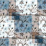 Seamless floral patchwork in pastel colors. Colorful pattern stock illustration
