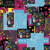 Seamless floral patchwork pattern Royalty Free Stock Photos